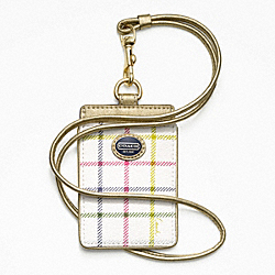 COACH F62878 - PEYTON TATTERSALL LANYARD ID ONE-COLOR