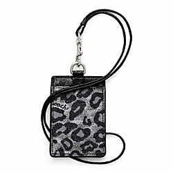COACH F62907 - SIGNATURE STRIPE OCELOT LANYARD ID ONE-COLOR