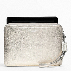 COACH F62942 - METALLIC LEATHER E-READER SLEEVE ONE-COLOR