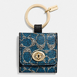 COACH F63086 - SIGNATURE C TURNLOCK PICTURE FRAME KEY RING LIDGM