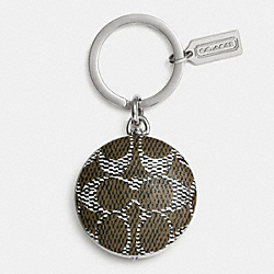 COACH F63090 - NOVELTY SIGNATURE C FLASHLIGHT KEY RING  MULTICOLOR