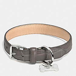 COACH F63145 Collar In Croc Embossed Leather SILVER/MINK