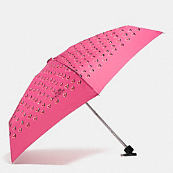 COACH F63258 - MINI UMBRELLA IN HEART PRINT  SILVER/PINK MULTICOLOR