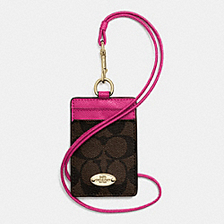 COACH F63274 Lanyard Id Case In Signature IME9T