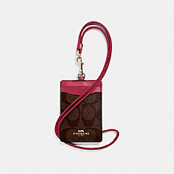 COACH F63274 Id Lanyard In Signature Canvas IMNM4