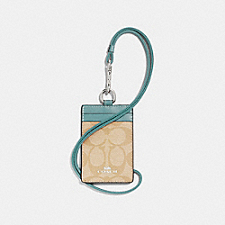 COACH F63274 Id Lanyard In Signature Canvas SVNKA