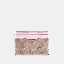 COACH F63279 Card Case SILVER/KHAKI BLUSH 2