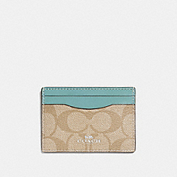 COACH F63279 Card Case In Signature Canvas SVNKA
