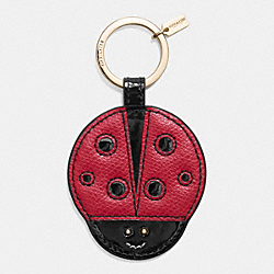 COACH F63285 - LADYBUG MOTIF KEY RING  LIGHT GOLD/MULTICOLOR
