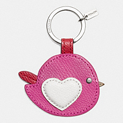 COACH F63286 Valentine Bird Motif Key Ring  SILVER/MULTICOLOR