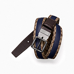 COACH F63298 Signature Jacquard Reversible Golf Belt