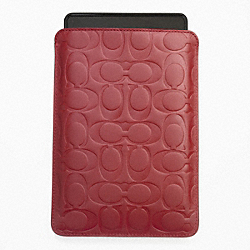 COACH SIGNATURE EMBOSSED E-READER SLEEVE - RED - F63316