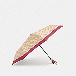 COACH F63364 Signature Umbrella IVORY/ROUGE/GOLD