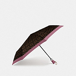 COACH F63364 Signature Umbrella GD/MAHOGANY ROSE