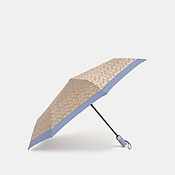 COACH F63364 Signature Umbrella CORNFLOWER/SILVER