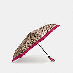 COACH F63364 Signature Umbrella SILVER/HOT PINK
