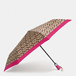 COACH F63364 Umbrella In Signature SILVER/KHAKI STRAWBERRY