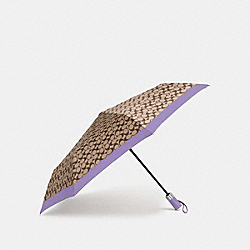COACH F63364 Signature Umbrella LIGHT PURPLE/SILVER