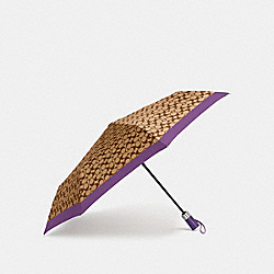 SIGNATURE UMBRELLA - F63364 - VIOLET/SILVER