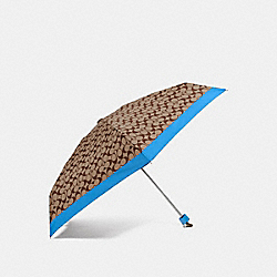COACH F63365 Signature Mini Umbrella BRIGHT BLUE/SILVER