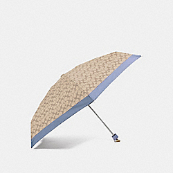 SIGNATURE MINI UMBRELLA - F63365 - CORNFLOWER/SILVER