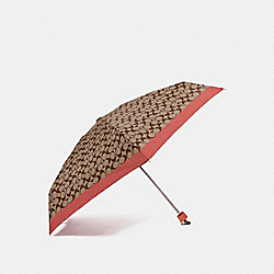 COACH F63365 Signature Mini Umbrella KHAKI/ROSE PETAL/SILVER