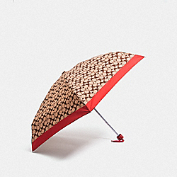 COACH F63365 Signature Mini Umbrella RUBY/SILVER
