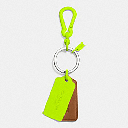 COACH F63399 - C.O.A.C.H. NOVELTY MULTI HANGTAG KEY RING GL/SADDLE GLO LLIGHT GOLDE