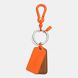 COACH F63399 C.o.a.c.h. Novelty Multi Hangtag Key Ring NO/SADDLE/NEON ORANGE