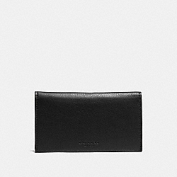 COACH UNIVERSAL PHONE CASE IN SPORT CALF LEATHER - BLACK - F63646