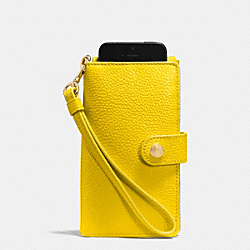 PHONE CLUTCH IN PEBBLE LEATHER - f63653 - LIYLW