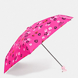COACH F63675 - FLORAL PRINT MINI UMBRELLA  SILVER/PINK MULTICOLOR