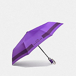 COACH F63689 - HC LOCK UP UMBRELLA SILVER/PURPLE IRIS