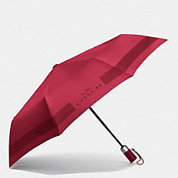 COACH F63689 - HC LOCK UP UMBRELLA SILVER/CLASSIC RED