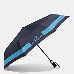 COACH F63689 - HC LOCK UP UMBRELLA SILVER/MIDNIGHT/BLUEJAY