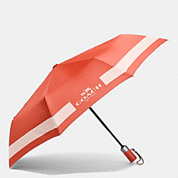 COACH F63689 - HORSE AND CARRIAGE UMBRELLA SILVER/CARMINE/PEACH ROSE