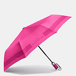 COACH F63689 - HC LOCK UP UMBRELLA SILVER/CRANBERRY
