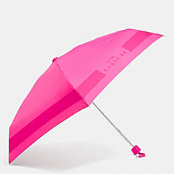 COACH F63690 Hc Lock Up Mini Umbrella  SILVER/PINK RUBY
