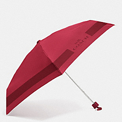 COACH F63690 Hc Lock Up Mini Umbrella SILVER/CLASSIC RED