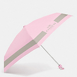 COACH F63690 Hc Lock Up Mini Umbrella SILVER/PETAL/GREY BIRCH