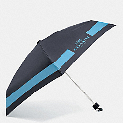 COACH F63690 Hc Lock Up Mini Umbrella SILVER/MIDNIGHT/BLUEJAY