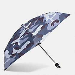 COACH F63692 - CAMO PRINT MINI UMBRELLA  SILVER/BLUE MULTICOLOR