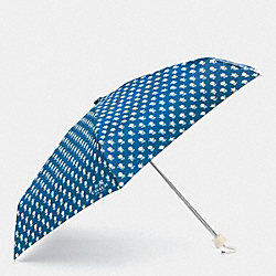 COACH F63699 Mini Umbrella In Badland Floral  SILVER/BLUE MULTICOLOR