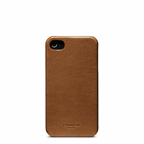 COACH f63734 BLEECKER LEATHER MOLDED IPHONE 4 CASE FAWN