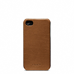 COACH BLEECKER LEATHER MOLDED IPHONE 4 CASE - FAWN - F63734