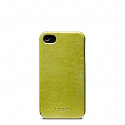 COACH F63734 Bleecker Leather Molded Iphone 4 Case