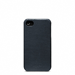 COACH F63734 Bleecker Leather Molded Iphone 4 Case NAVY