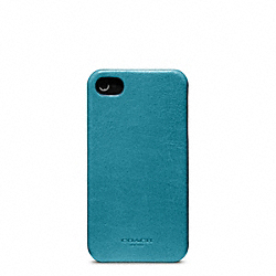 COACH BLEECKER LEATHER MOLDED IPHONE 4 CASE - OCEAN - F63734