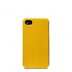 COACH BLEECKER LEATHER MOLDED IPHONE 4 CASE - ONE COLOR - F63734