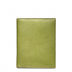 COACH F63736 Bleecker Pebbled Leather Passport Case